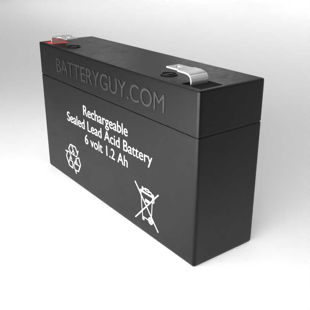 6v 1.2Ah Rechargeable Sealed Lead Acid Battery - Right View