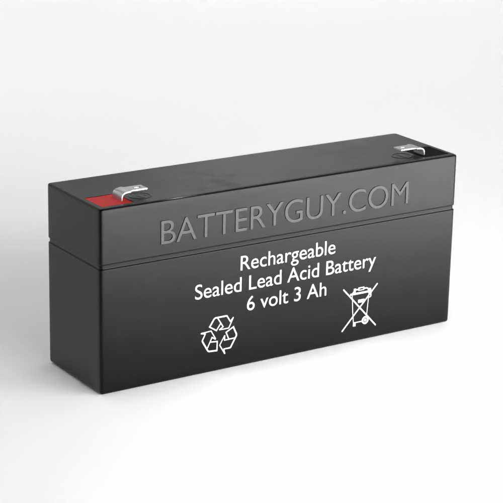 Left View - 6v 3.5Ah Rechargeable Sealed Lead Acid (Rechargeable SLA) Battery
