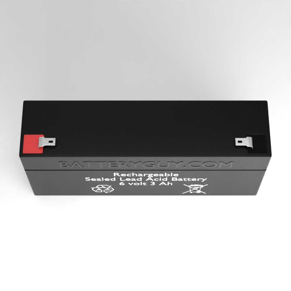 Top View - 6v 3.5Ah Rechargeable Sealed Lead Acid (Rechargeable SLA) Battery
