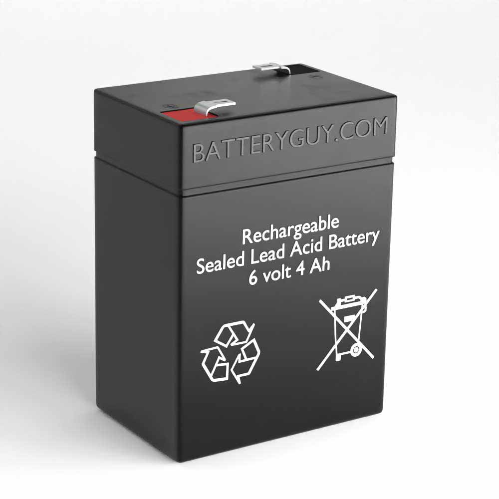 Left View - 6v 4.0Ah Rechargeable Sealed Lead Acid Battery