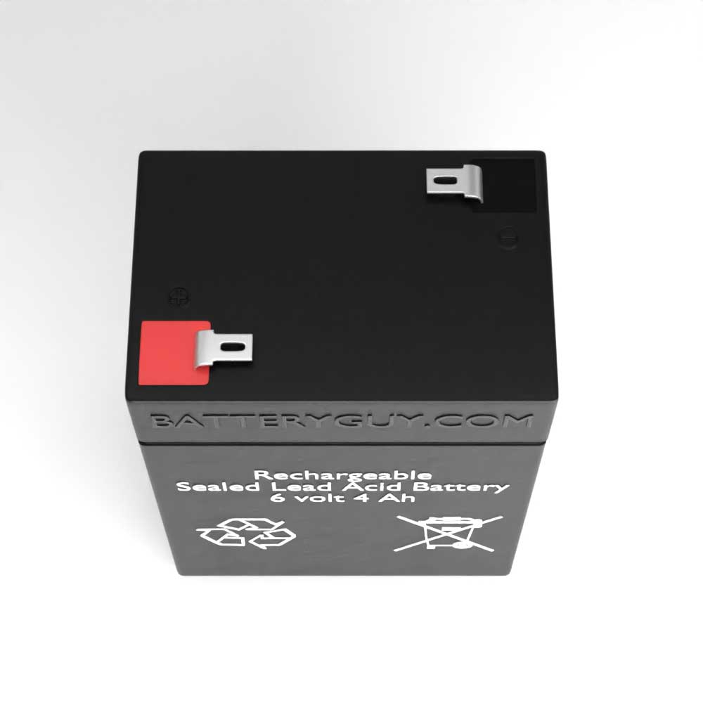Top View - 6v 4.0Ah Rechargeable Sealed Lead Acid Battery