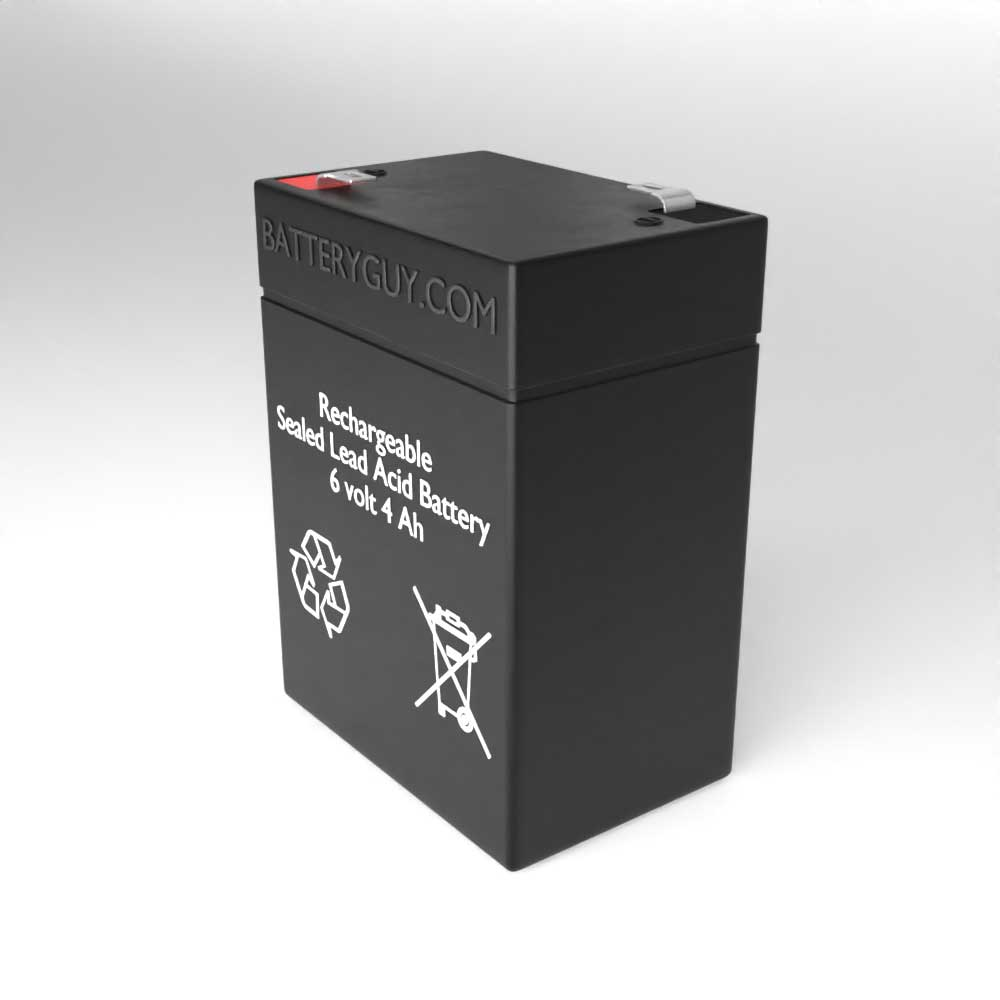 Right View - 6v 4.0Ah Rechargeable Sealed Lead Acid Battery