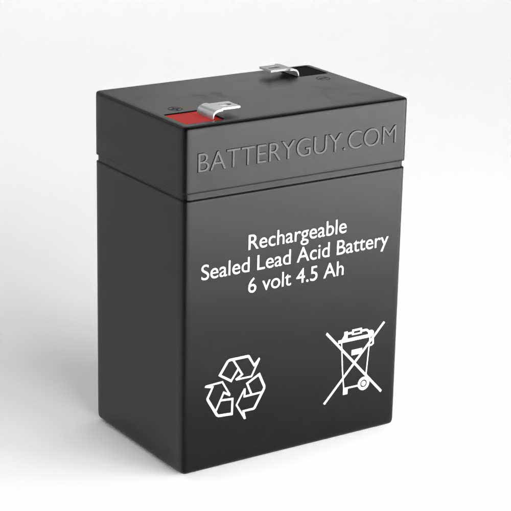 6v 4.5Ah Rechargeable Sealed Lead Acid (Rechargeable SLA) Battery | BG-645F1