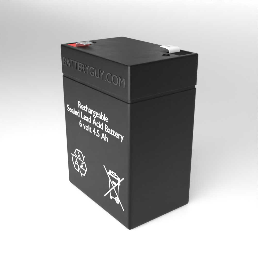 Right View - 6v 4.5Ah Rechargeable Sealed Lead Acid (Rechargeable SLA) Battery