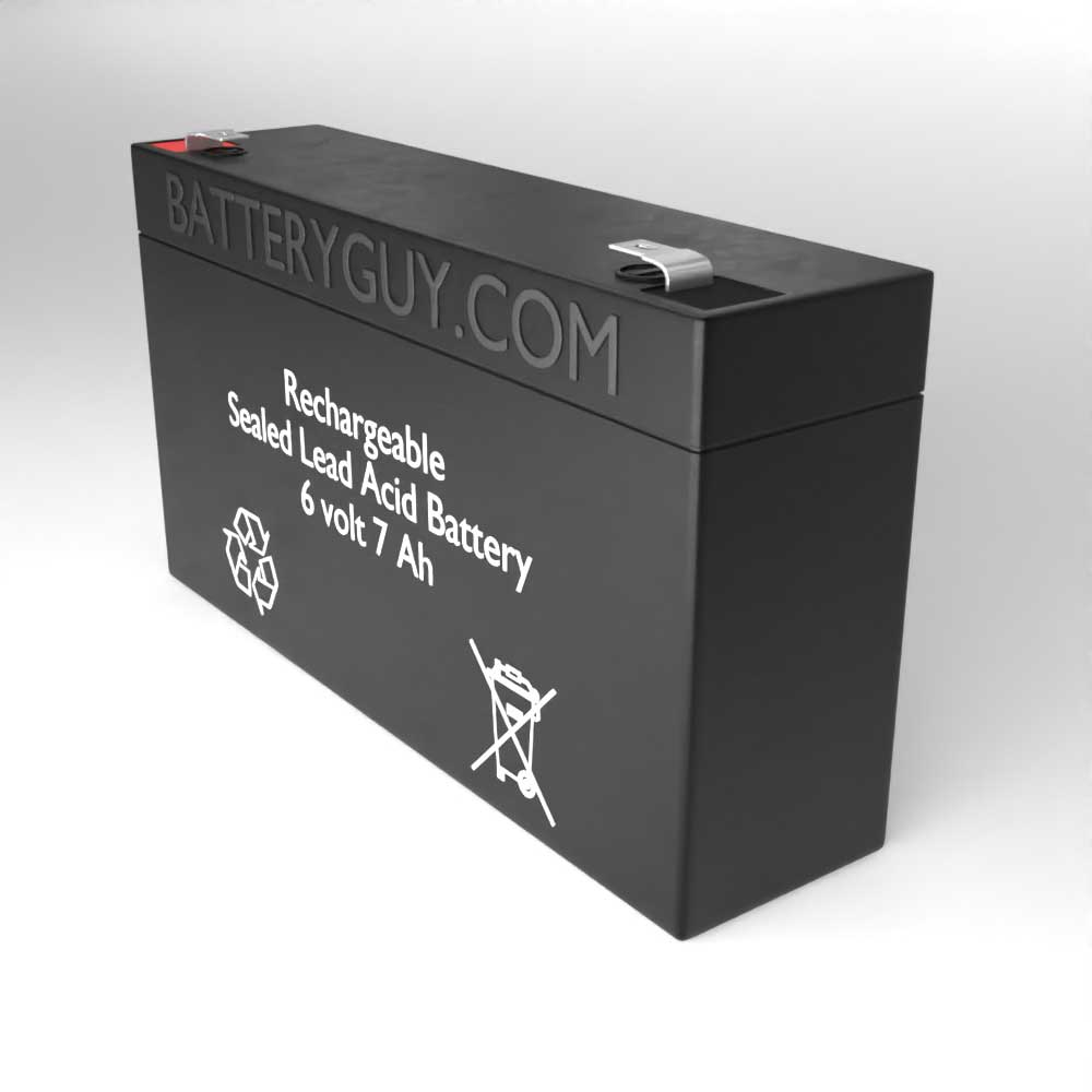 Right View - 6v 7Ah Rechargeable Sealed Lead Acid (Rechargeable SLA) Battery