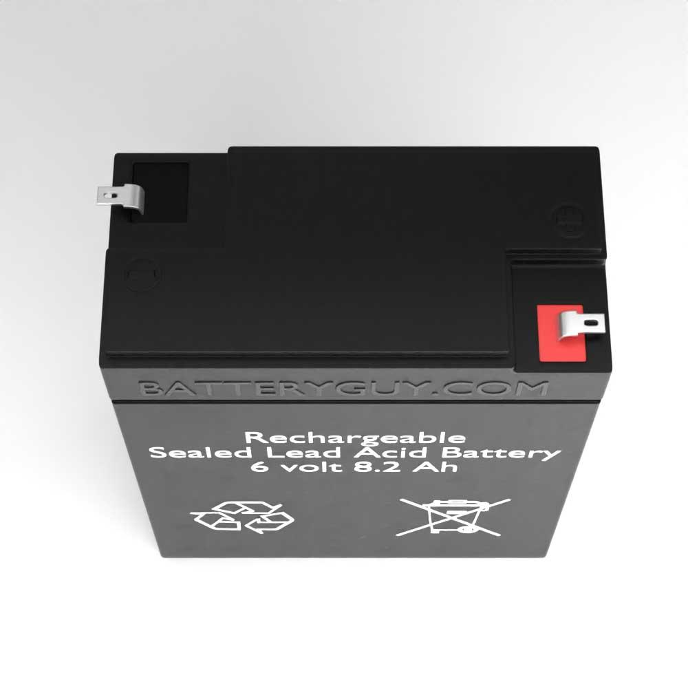6v 8.2Ah Rechargeable Sealed Lead Acid Battery |  BG-682