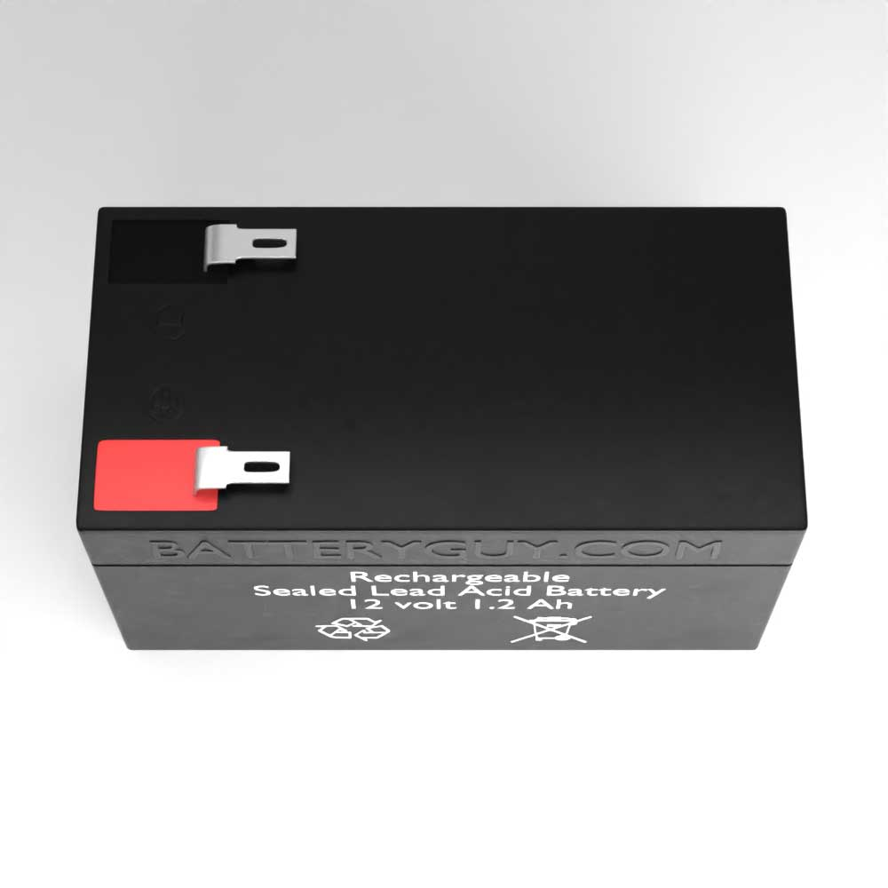 Top View - 12v 1.2Ah Rechargeable Sealed Lead Acid Battery