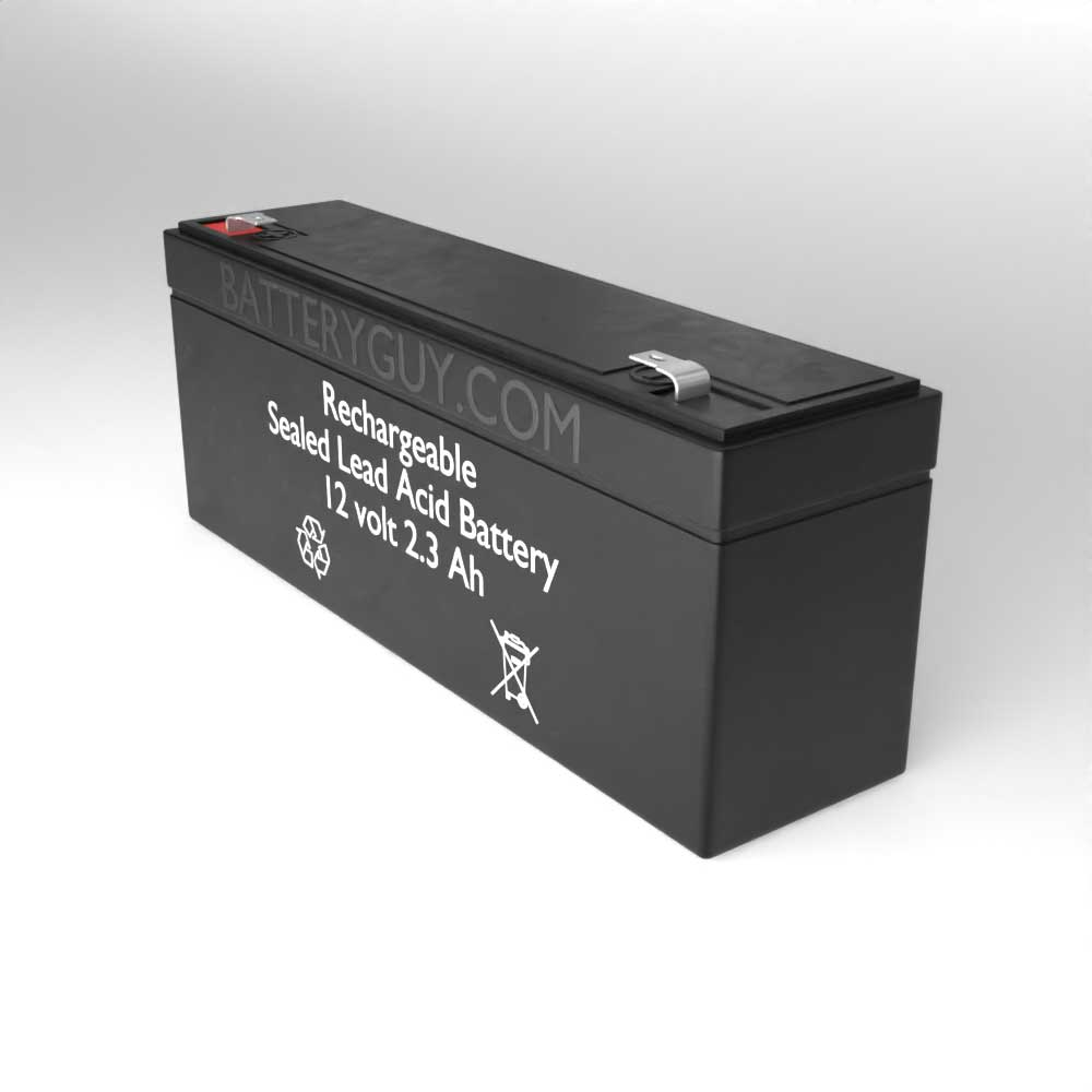 Right View - 12v 2.3Ah Rechargeable Sealed Lead Acid (Rechargeable SLA) Battery