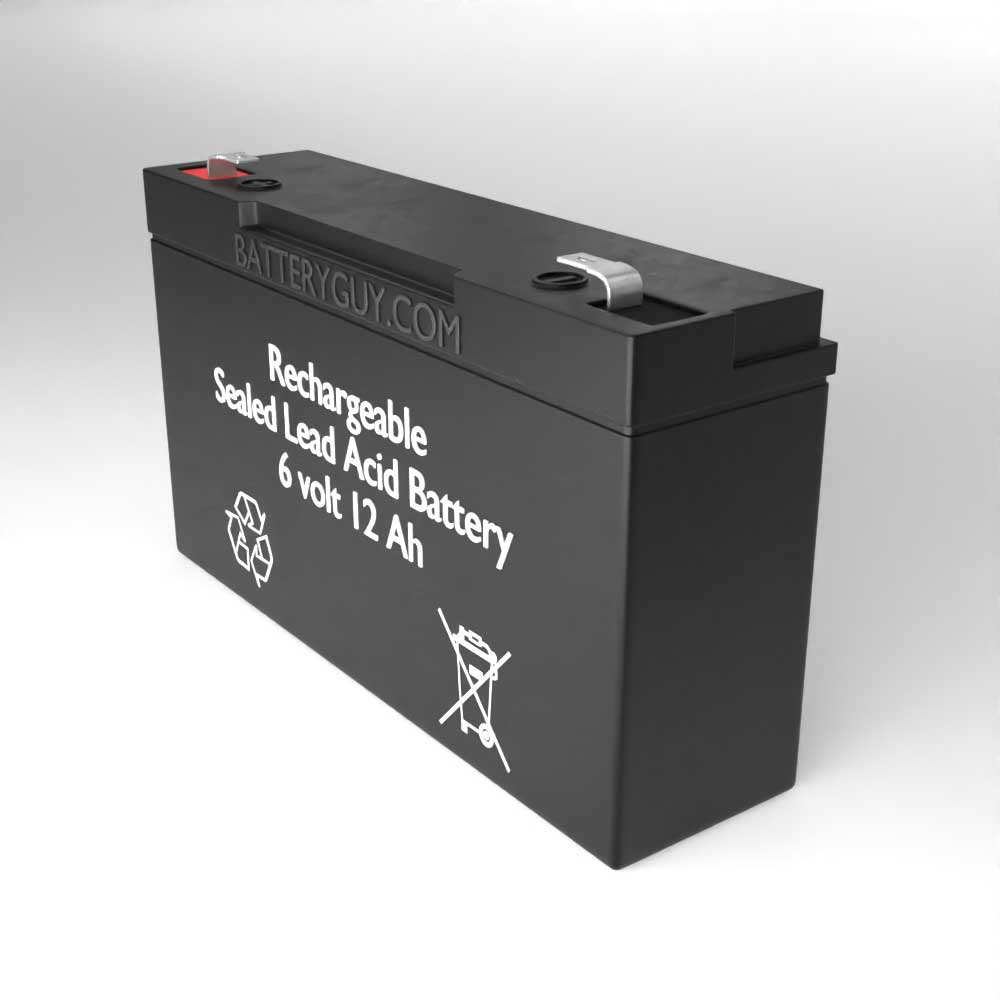 Right View - 6v 1.2Ah Rechargeable Sealed Lead Acid Battery
