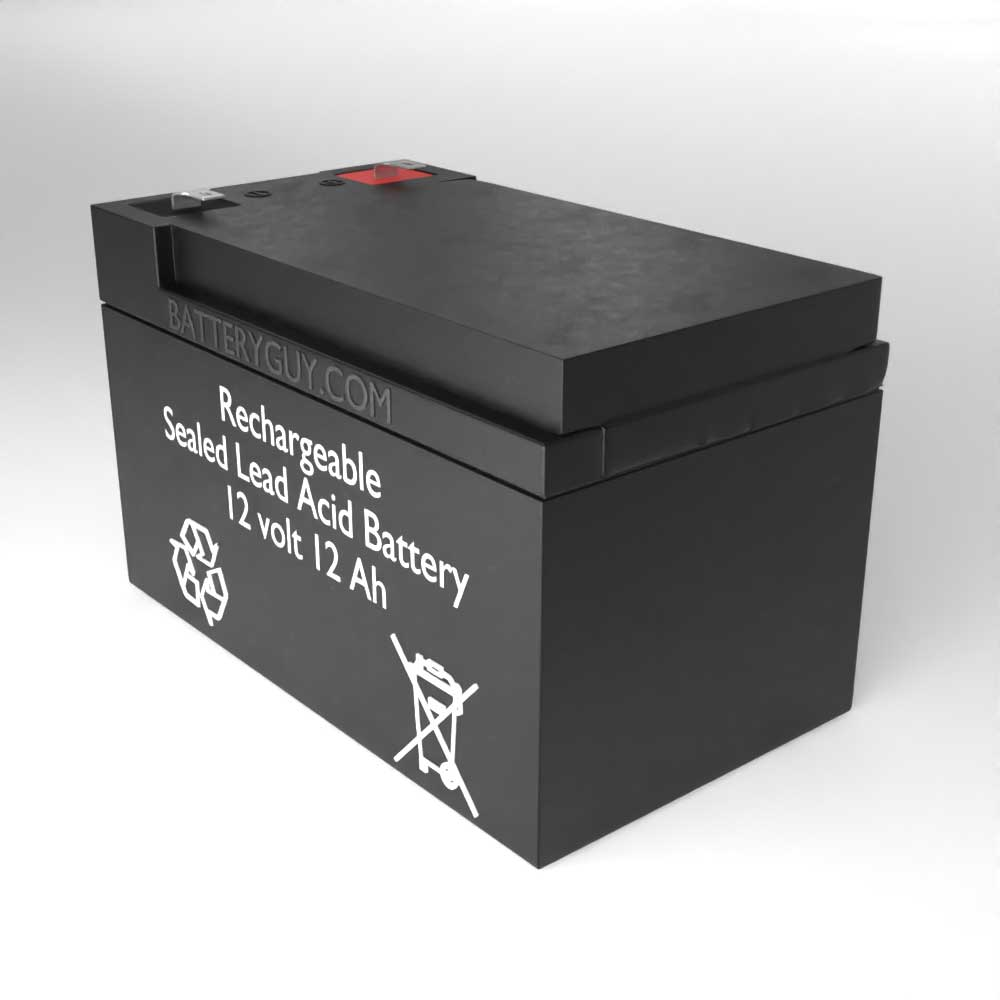 Right View - 12v 12Ah Rechargeable Sealed Lead Acid (Rechargeable SLA) Battery