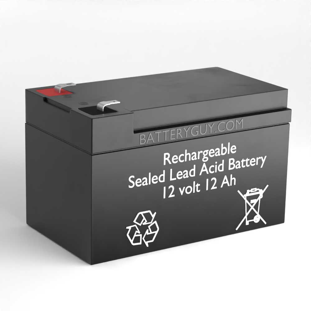 Left View - 12v 12Ah Rechargeable Sealed Lead Acid (Rechargeable SLA) Battery
