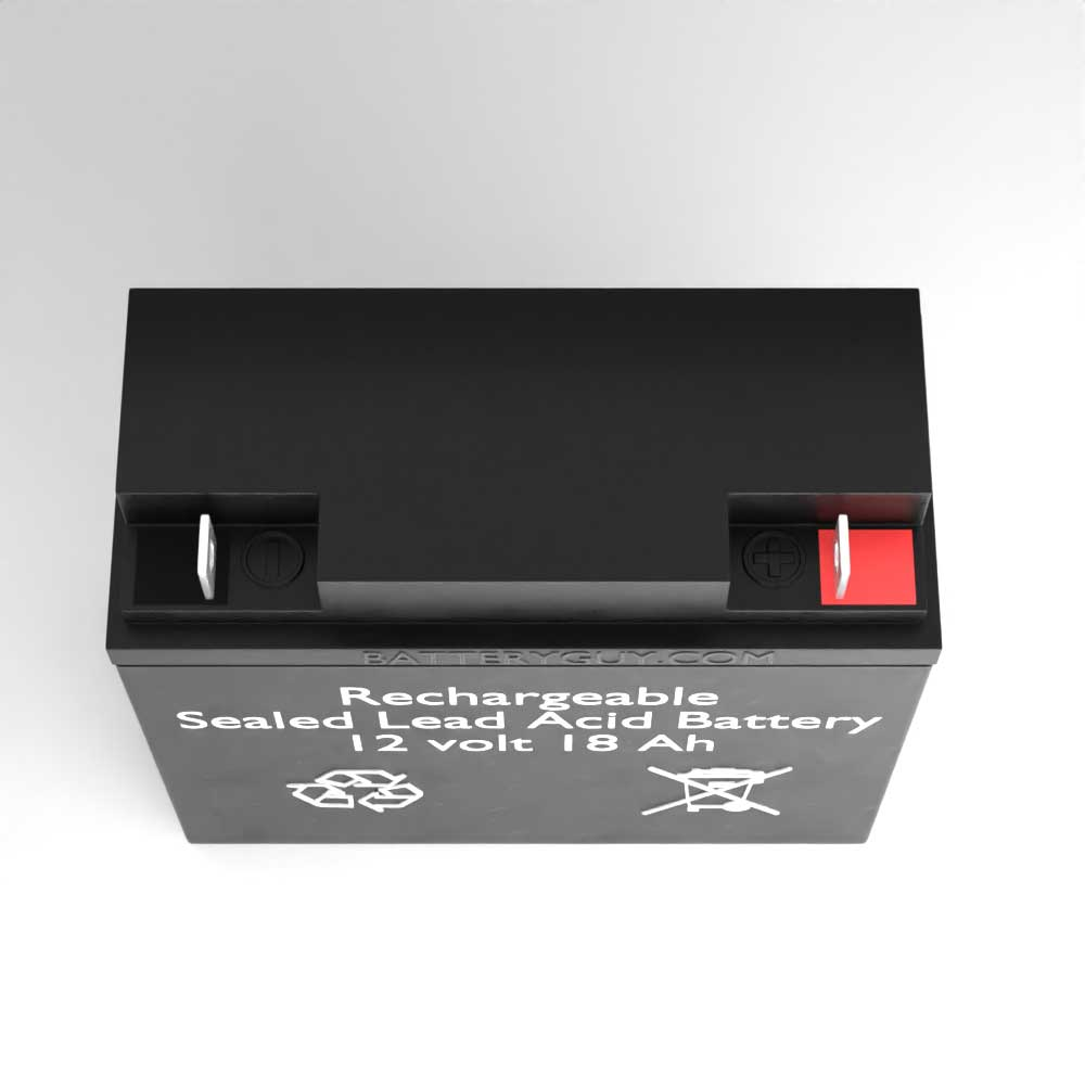 Top View - 6v 18Ah Rechargeable Sealed Lead Acid (Rechargeable SLA) Battery