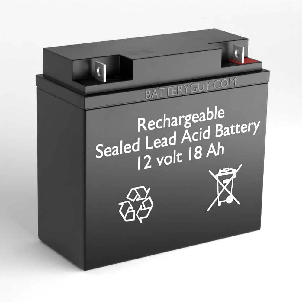 Left View - 6v 18Ah Rechargeable Sealed Lead Acid (Rechargeable SLA) Battery