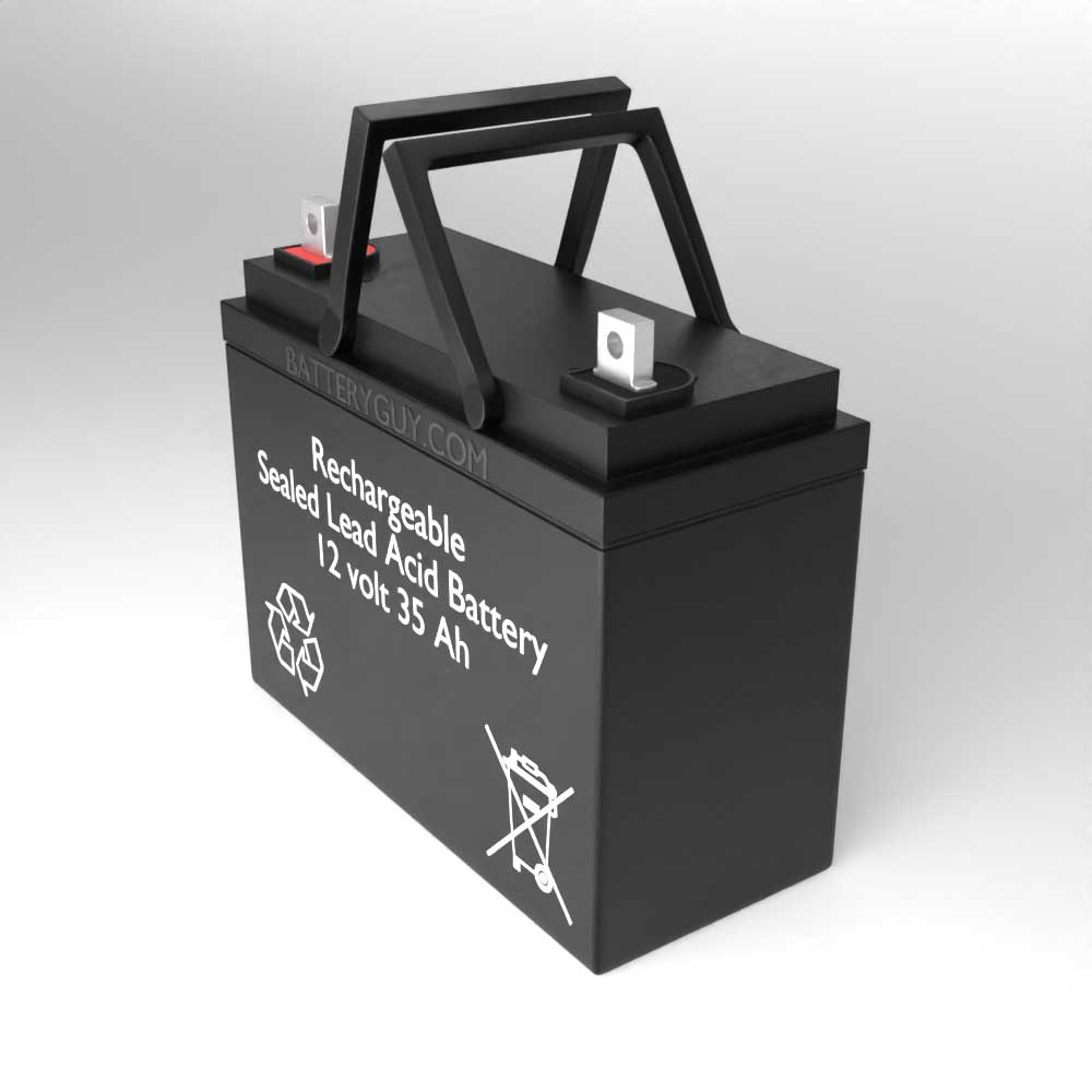 Right View - 12v 35Ah Rechargeable Sealed Lead Acid (Rechargeable SLA) Battery