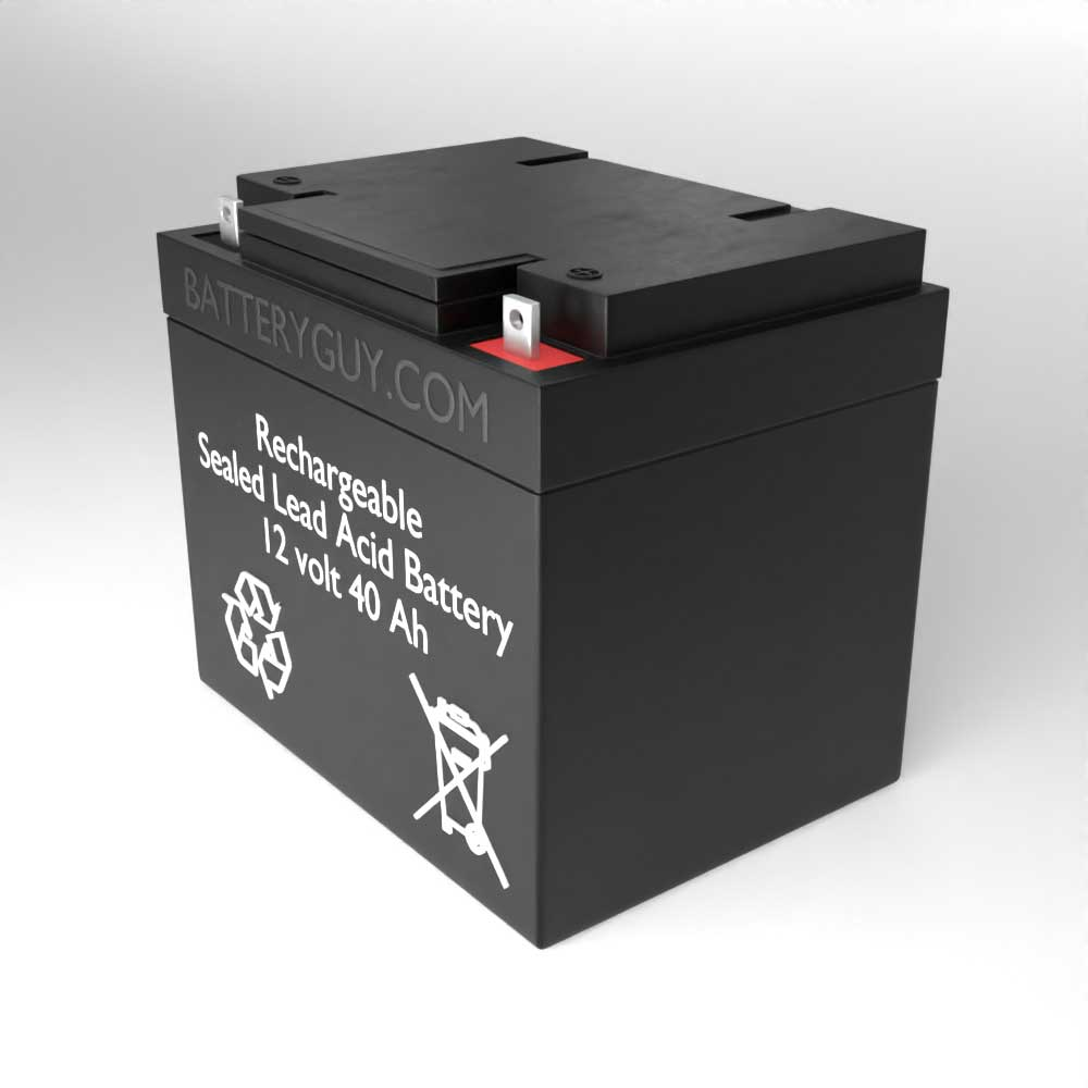 Right View - 12v 40Ah Rechargeable Sealed Lead Acid (Rechargeable SLA) Battery