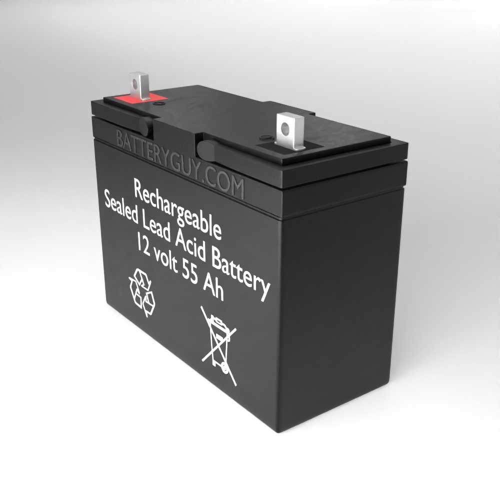 Right View - 12v 55Ah Rechargeable Sealed Lead Acid (Rechargeable SLA) Battery