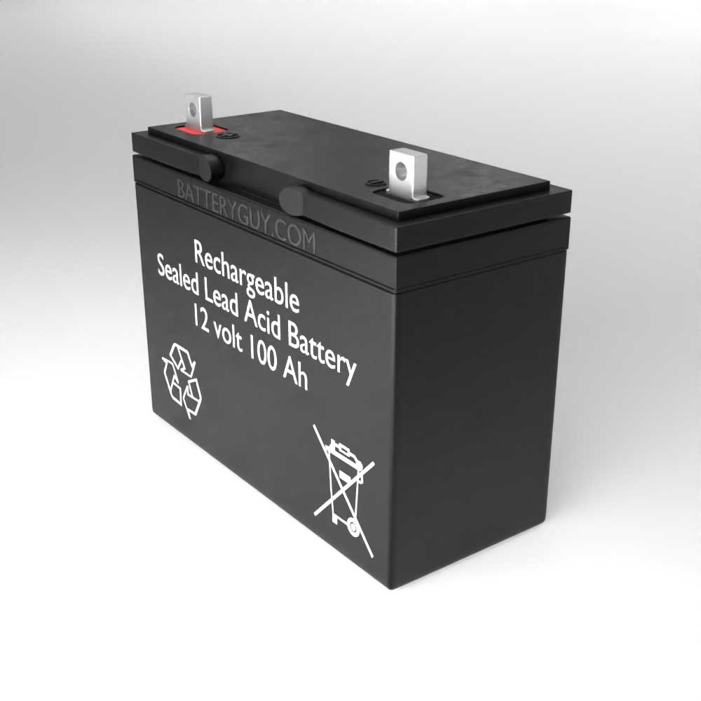 Right View - 12v 100Ah Rechargeable Sealed Lead Acid Battery