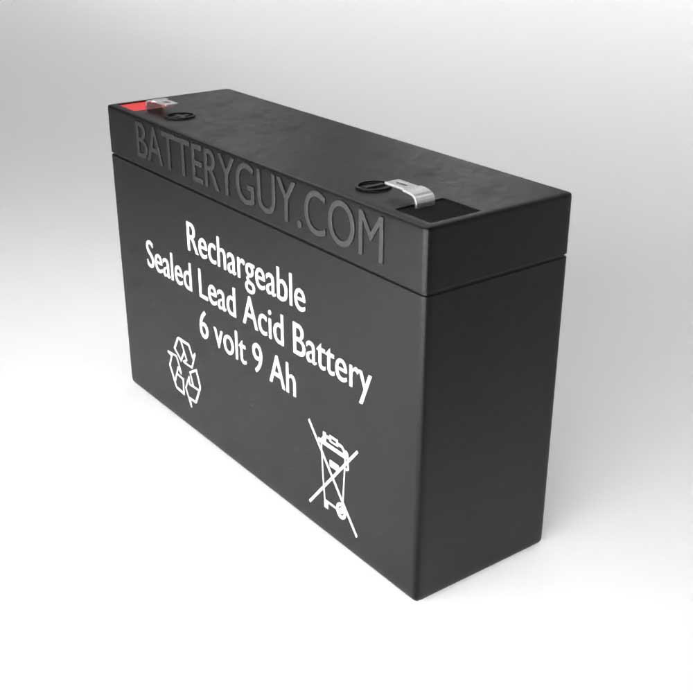 Right View - 6v 9Ah High-Rate Rechargeable Sealed Lead Acid (Rechargeable SLA) Battery