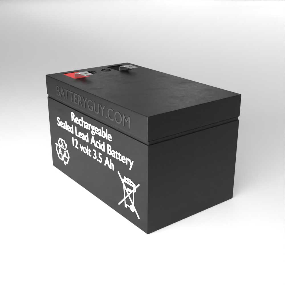 Right View - 12v 3.5Ah High Rate Rechargeable Sealed Lead Acid (Rechargeable SLA) Battery