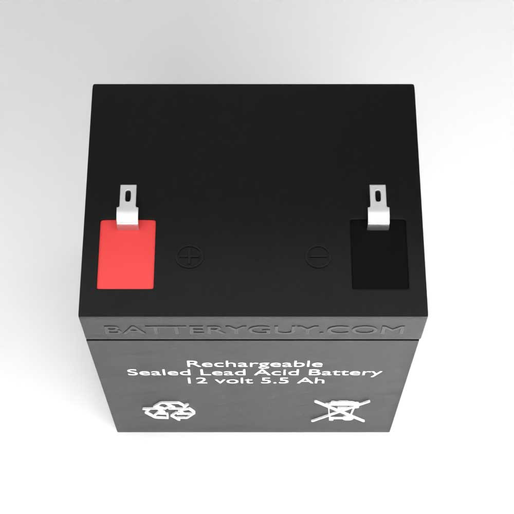Top View - 12v 5.5Ah Rechargeable Sealed Lead Acid (Rechargeable SLA)