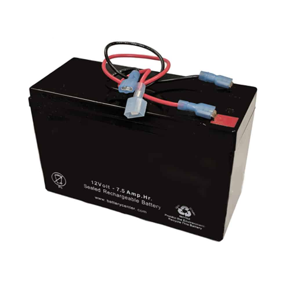 12v 7.5Ah Rechargeable High Rate SLA Battery with Wire Leads | BGH-1275F2WLFC(MALE P/ FEMALE N)