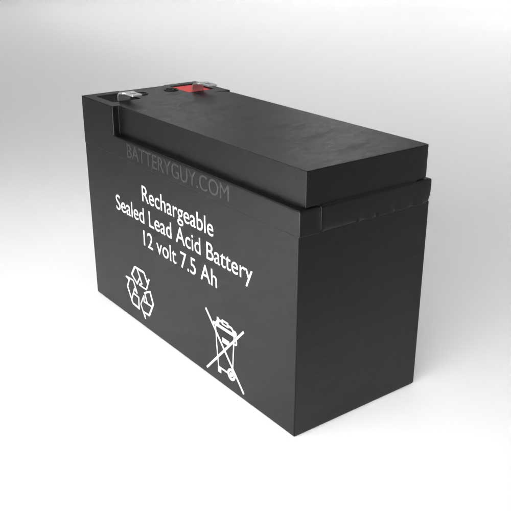 Right View - 12v 7.5Ah Rechargeable Sealed Lead Acid (Rechargeable SLA) Battery