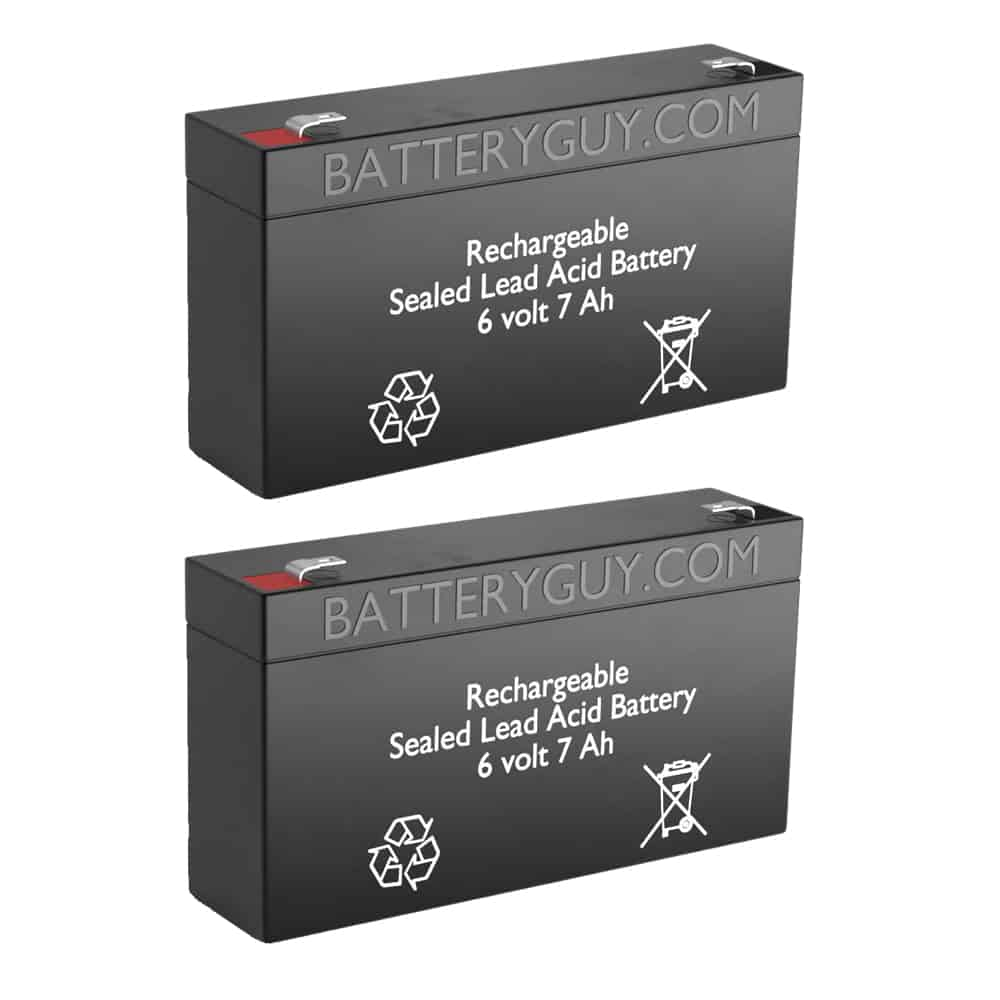 6v 7Ah Rechargeable Sealed Lead Acid (Rechargeable SLA) Battery | BG-670 (Qty of 2)