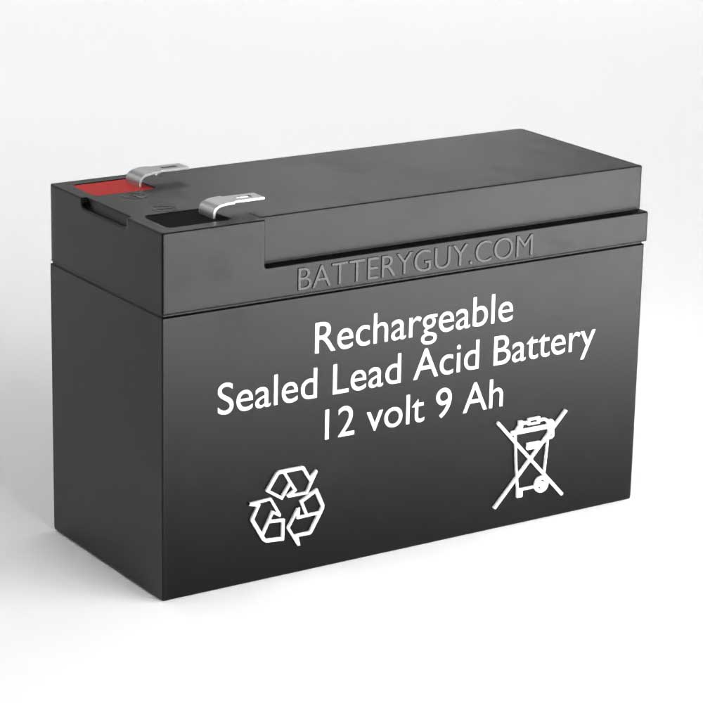 Left View - 12v 9Ah Rechargeable Sealed Lead Acid High Rate Discharge Battery