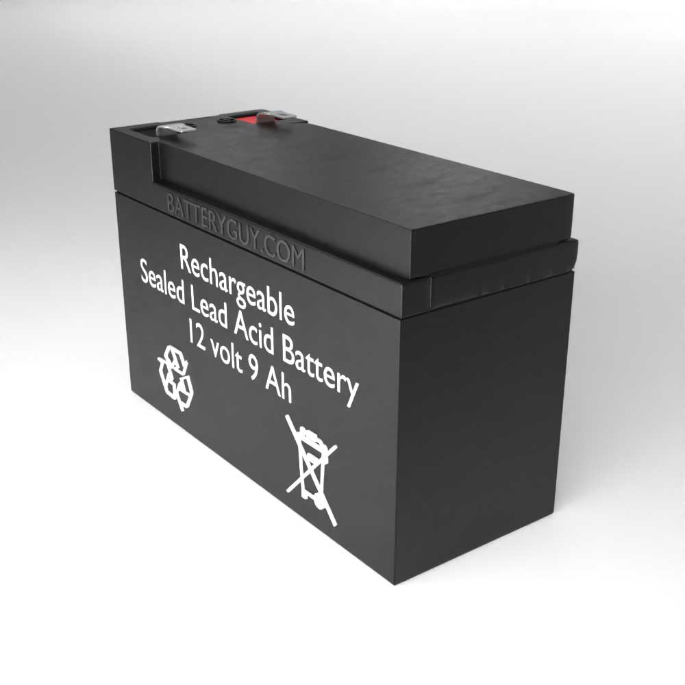 Right View - 12v 9Ah Rechargeable Sealed Lead Acid High Rate Discharge Battery