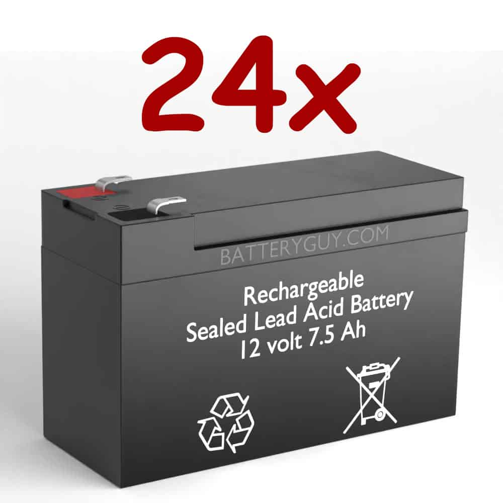 12v 7.5Ah Rechargeable Sealed Lead Acid High Rate Battery Set of Twentyfour