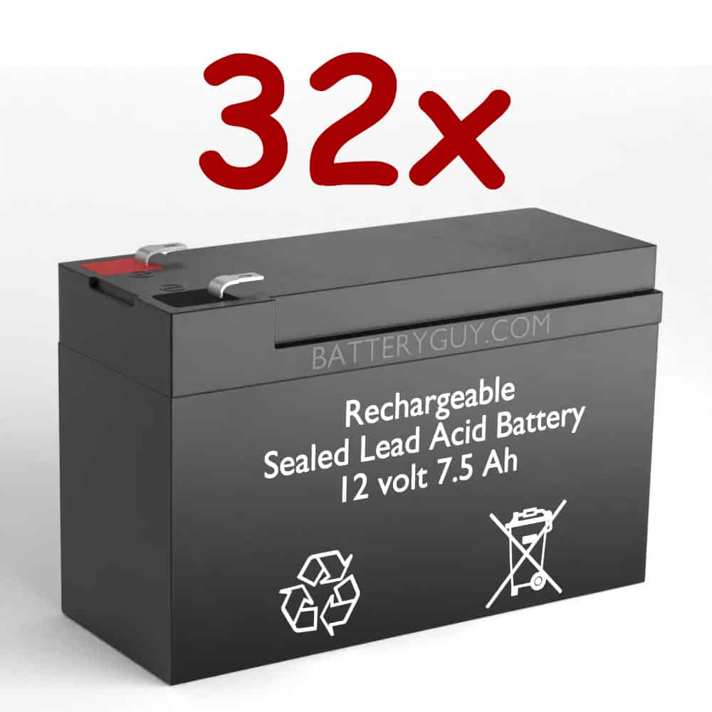 12v 7.5Ah Rechargeable Sealed Lead Acid High Rate Battery Set of Thirty Two