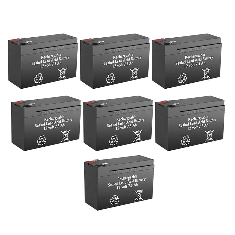 12v 7.5Ah Rechargeable Sealed Lead Acid High Rate Battery Set of Seven