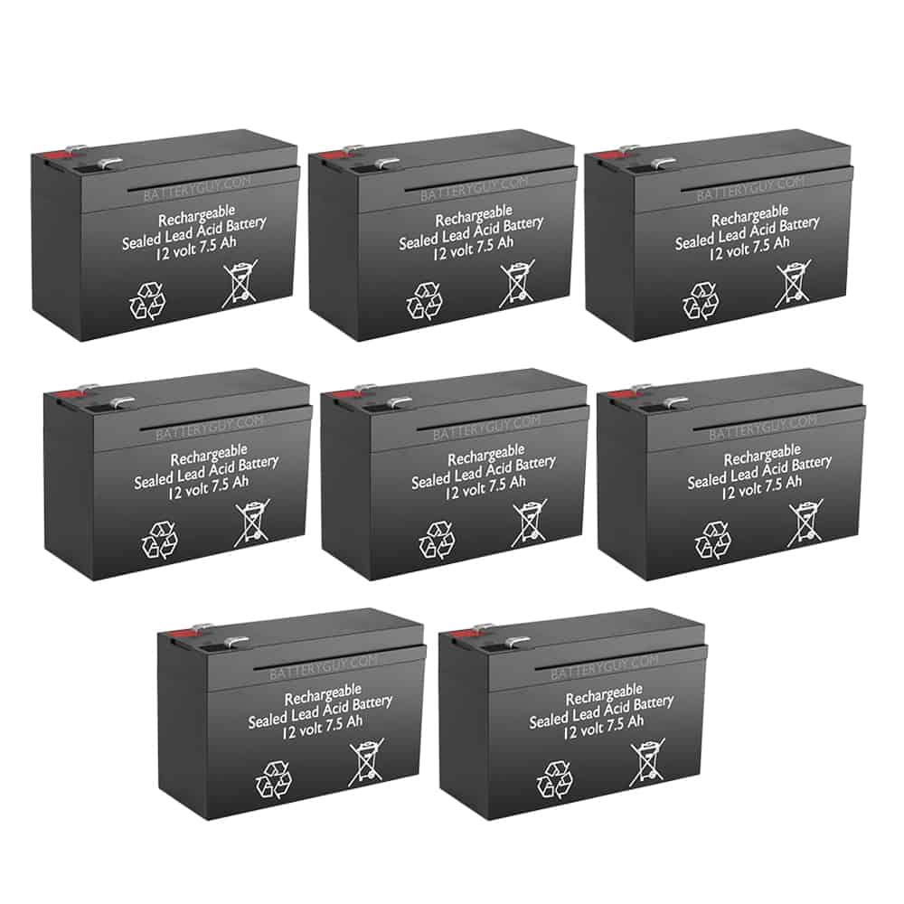 12v 7.5Ah Rechargeable Sealed Lead Acid High Rate Battery Set of Eight
