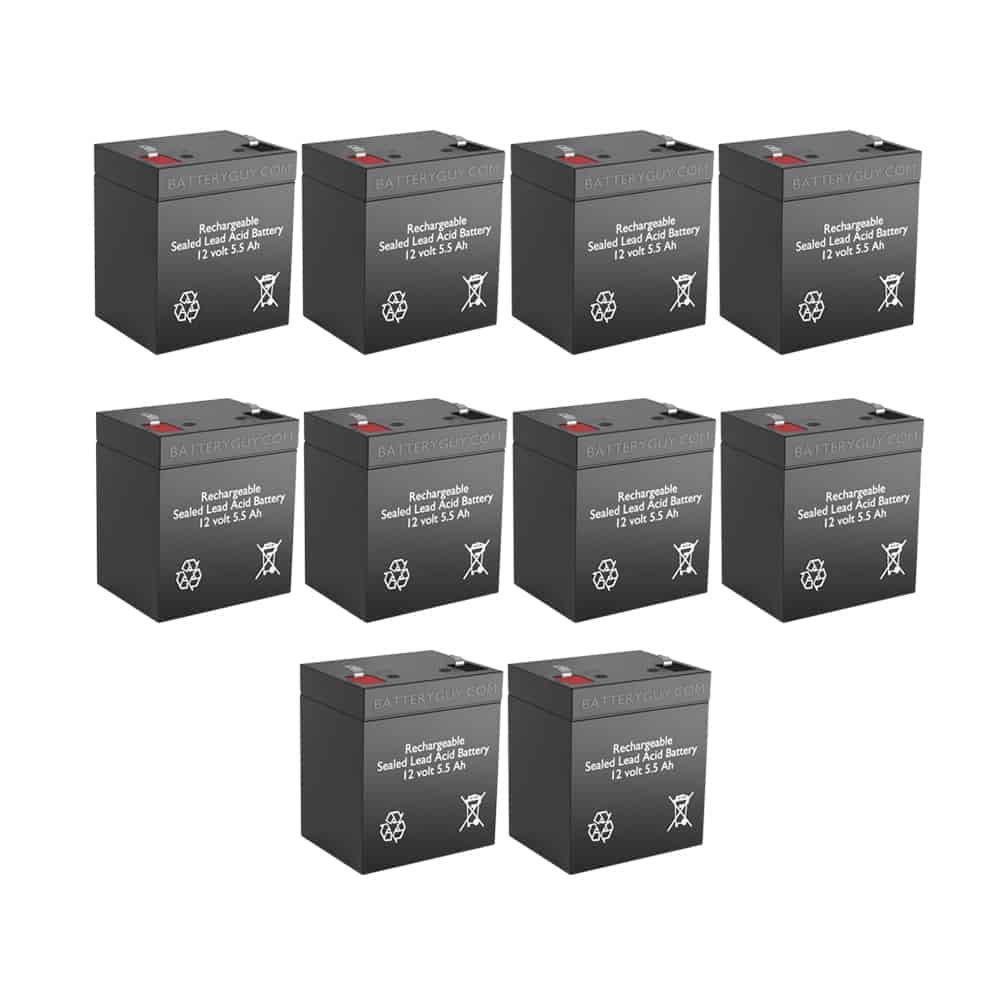 12v 5.5Ah Rechargeable Sealed Lead Acid High Rate  Battery Set of Ten