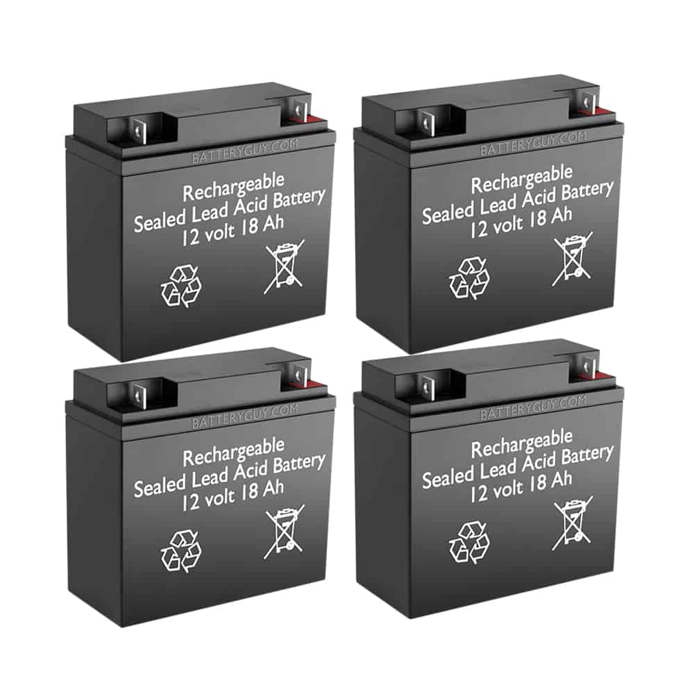 12v 18Ah Rechargeable Sealed Lead Acid High Rate Battery Set of Four
