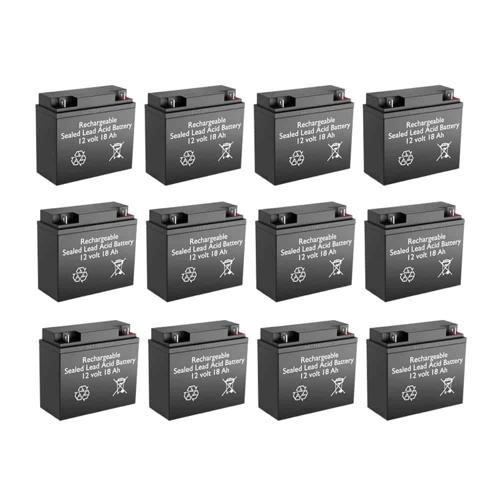 12v 18Ah Rechargeable Sealed Lead Acid High Rate Battery Set of Twelve
