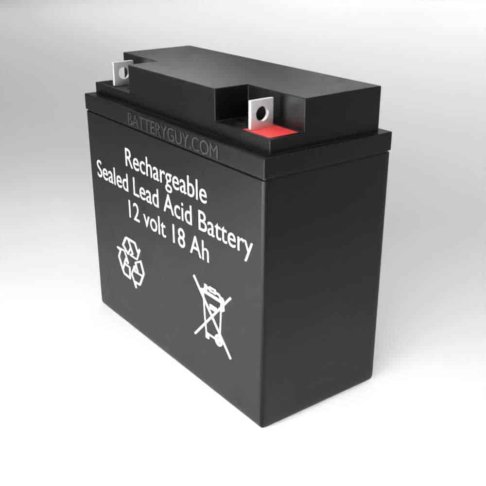 Right View - 12v 18Ah Rechargeable Sealed Lead Acid (Rechargeable SLA) High Rate Battery