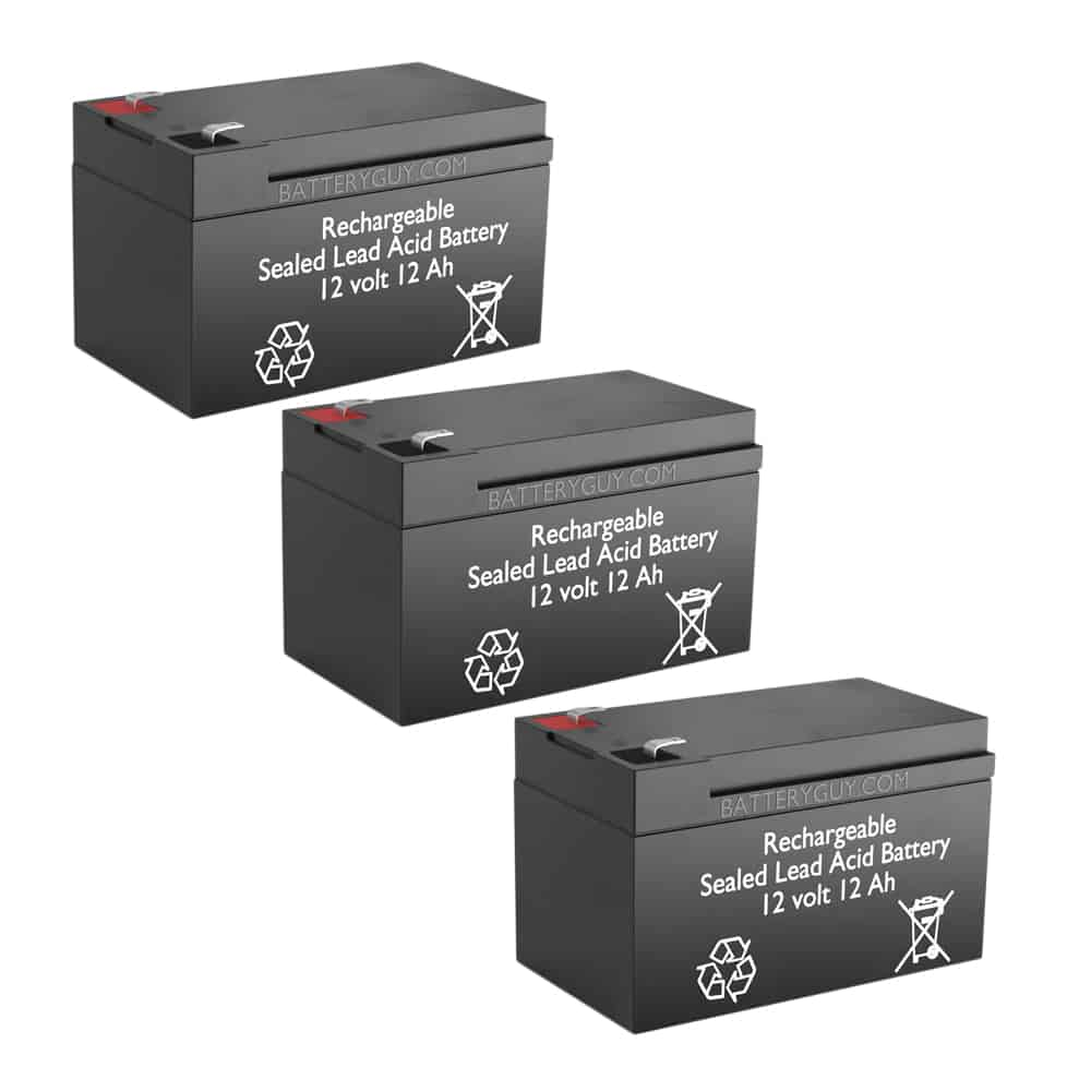 12v 12Ah Rechargeable Sealed Lead Acid High Rate  Battery Set of Three