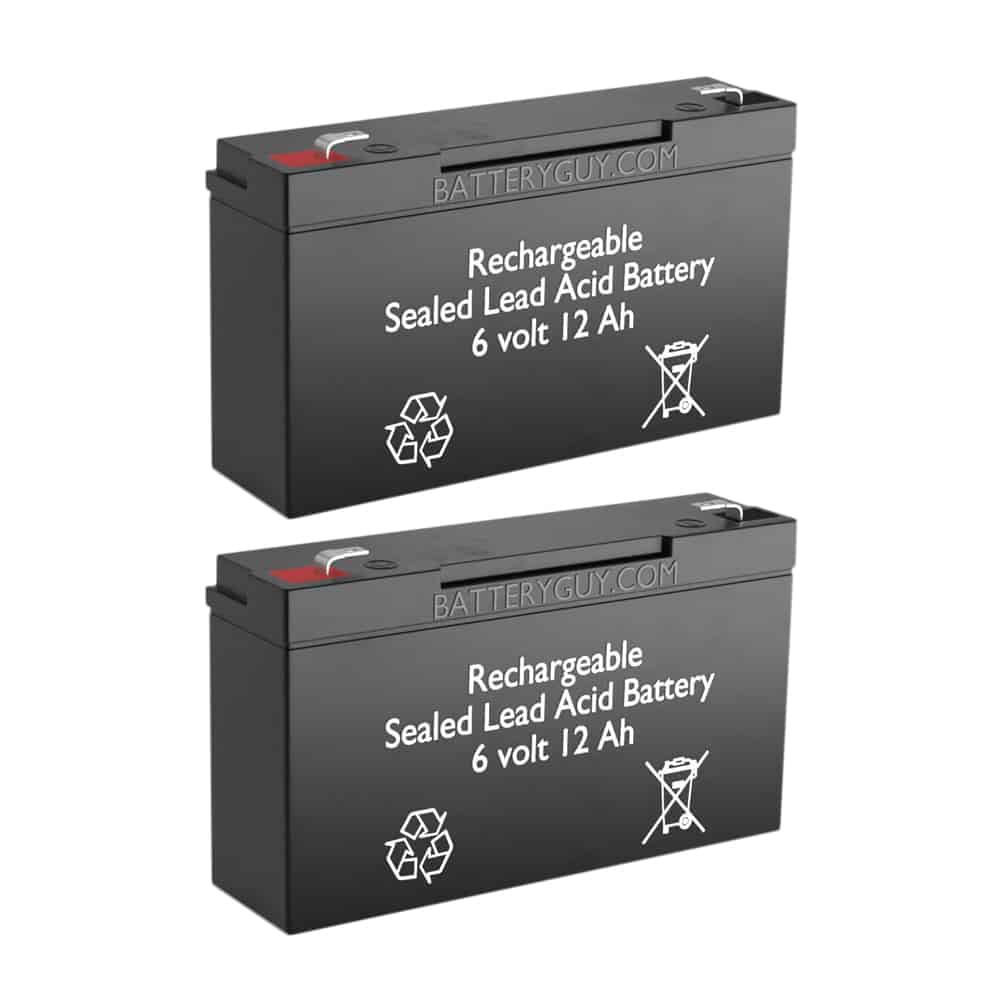 6v 12Ah Rechargeable Sealed Lead Acid (Rechargeable SLA) Battery | BG-6100F1 (Qty of 2)