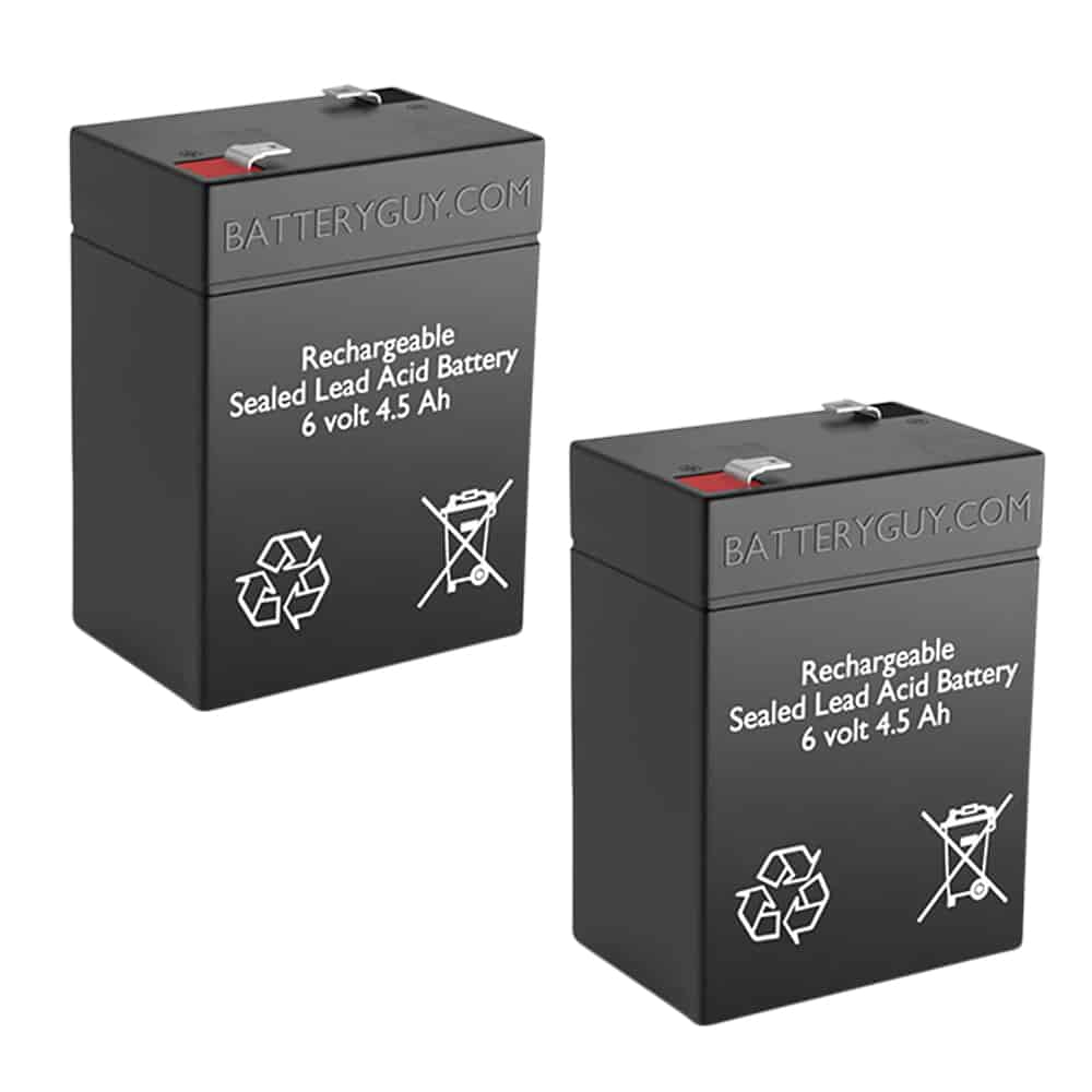 6v 4.5Ah Rechargeable Sealed Lead Acid (Rechargeable SLA) Battery Set of Two