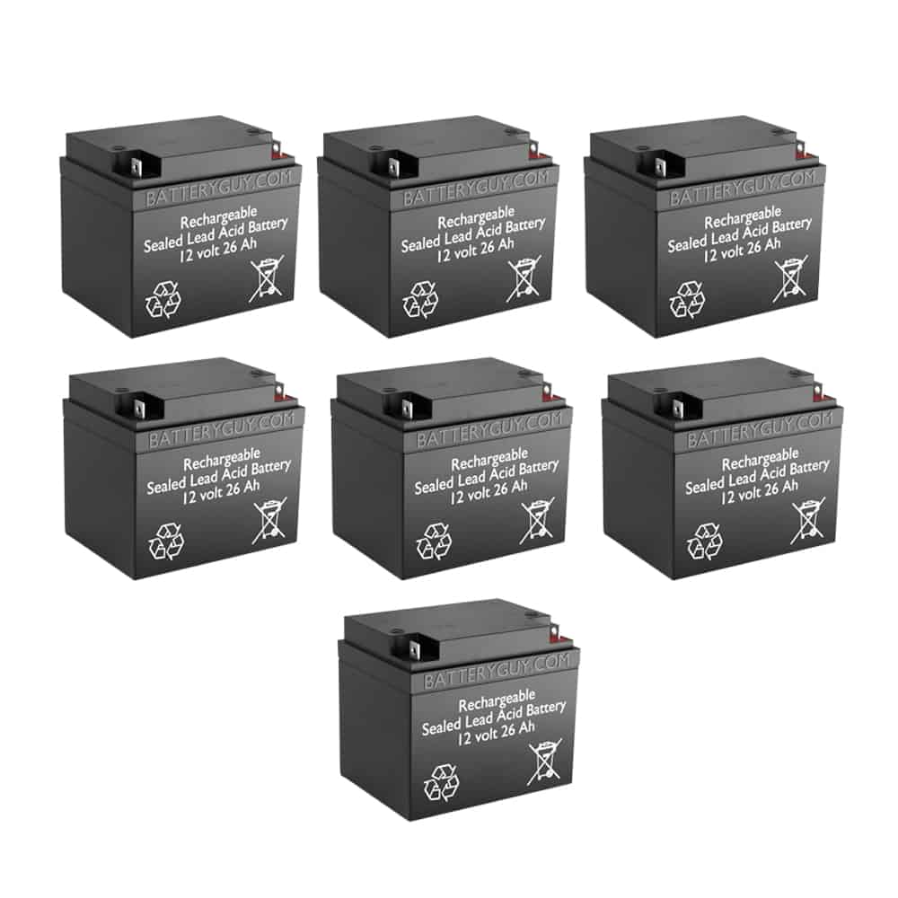 12v 26Ah Rechargeable Sealed Lead Acid (Rechargeable SLA) Battery | BG-12260NB (Qty of 7)