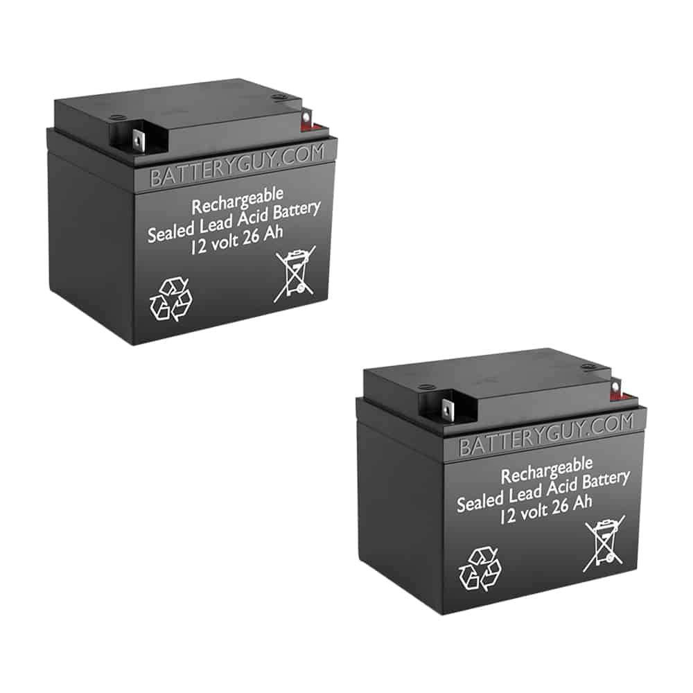 12v 26Ah Rechargeable Sealed Lead Acid (Rechargeable SLA) Battery | BG-12260NB (Qty of 2)