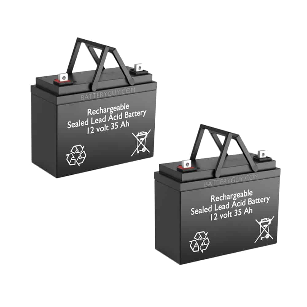 12v 35Ah Rechargeable Sealed Lead Acid (Rechargeable SLA) Battery Set of Two