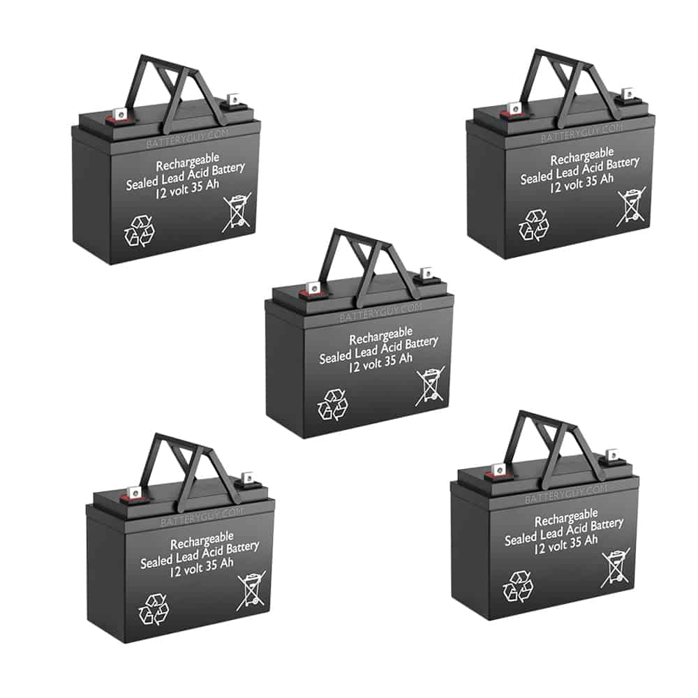 12v 35Ah Rechargeable Sealed Lead Acid (Rechargeable SLA) Battery Set of FIVE