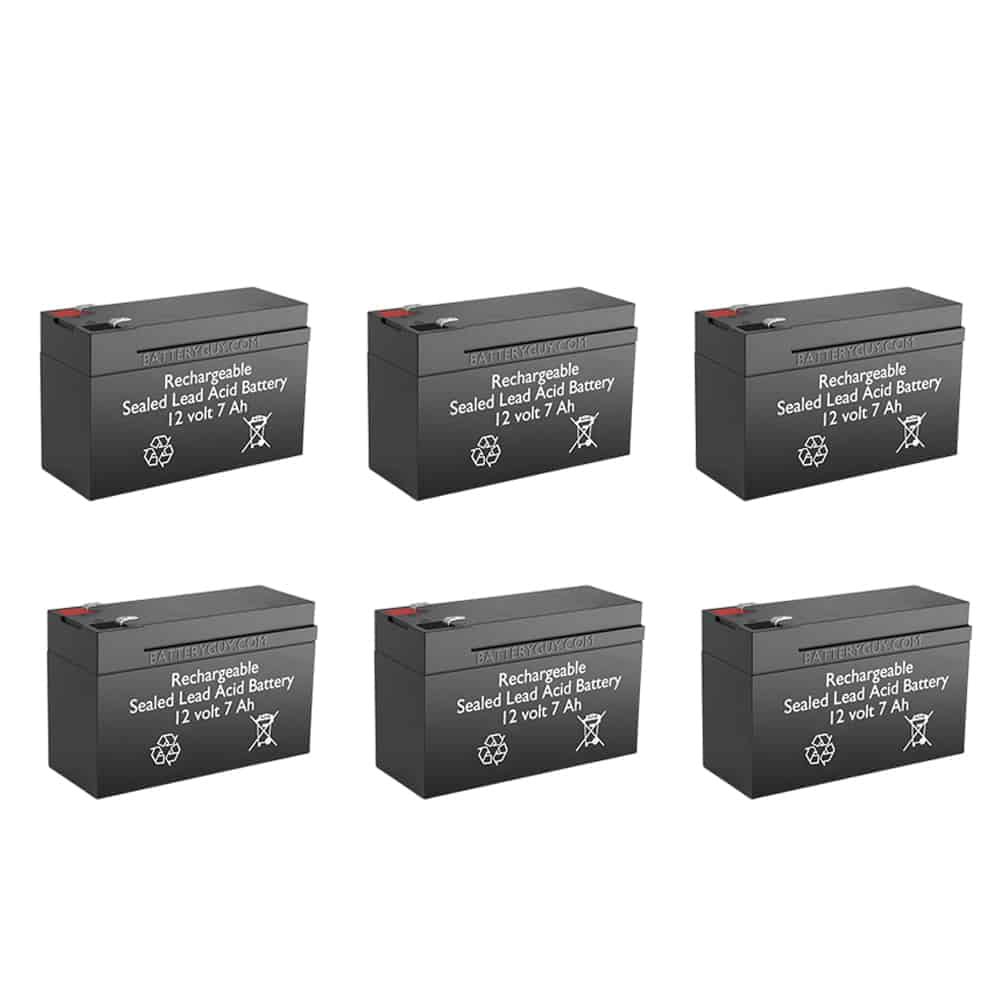 12v 7Ah Rechargeable Sealed Lead Acid (Rechargeable SLA) Battery | BG-1270F1 (Qty of 6)