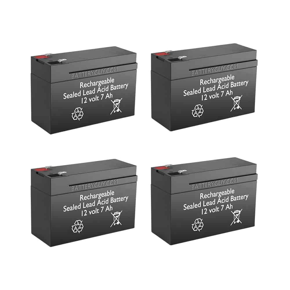12v 7Ah Rechargeable Sealed Lead Acid (Rechargeable SLA) Battery | BG-1270F1 (Qty of 4)