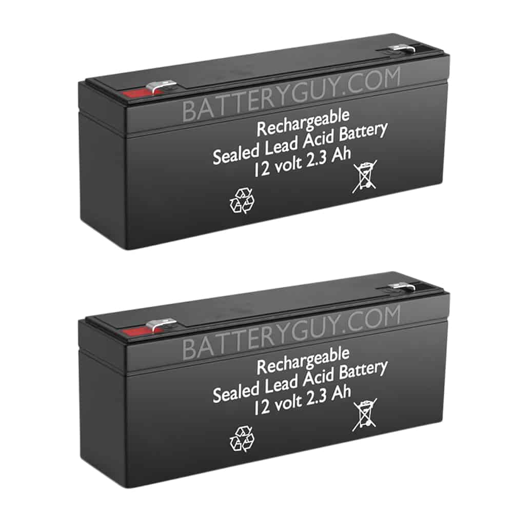12v 2.3Ah Rechargeable Sealed Lead Acid (Rechargeable SLA) Battery   BG-1223 (Qty of 2)