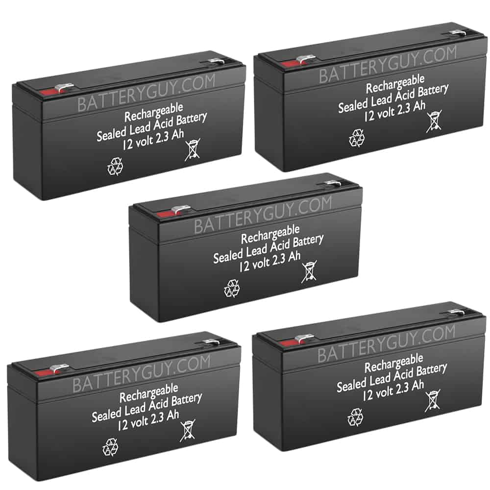 12v 2.3Ah Rechargeable Sealed Lead Acid (Rechargeable SLA) Battery   BG-1223 (Qty of 5)