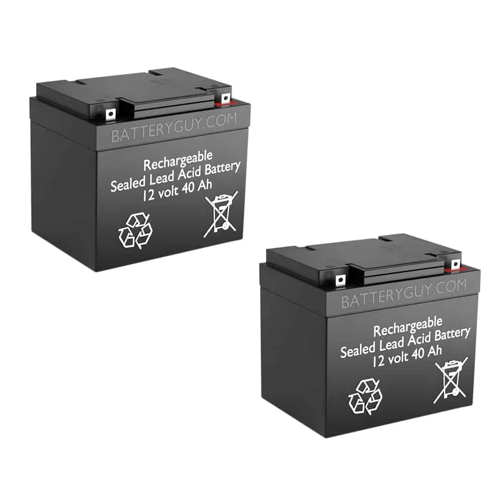 12v 40Ah Rechargeable Sealed Lead Acid (Rechargeable SLA) Battery | BG-12400NB (Qty of 2)