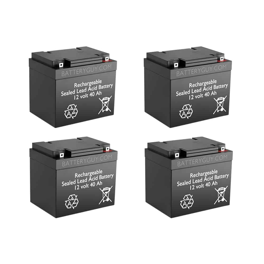 12v 40Ah Rechargeable Sealed Lead Acid (Rechargeable SLA) Battery   BG-12400NB (Qty of 4)